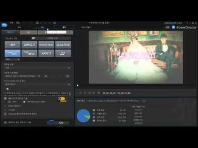 파워디렉터 강좌 11 편 - 동영상 출력하기 및 프로필 설정