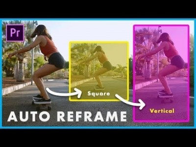 New Premiere Pro 2020 Effect! How to Auto Reframe Video to A…