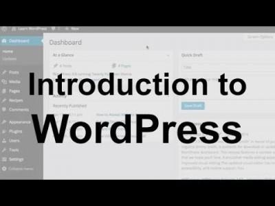 WordPress Tutorial 1: Introduction