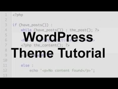 WordPress Theme Tutorial (Part 1)