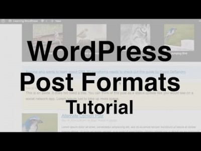 WordPress Post Formats Tutorial