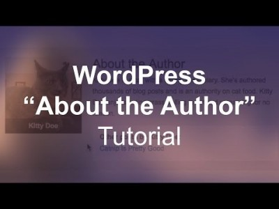 "WordPress ""About the Author"" Tutorial"