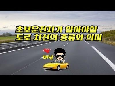 [초보운전탈출] ♥ 도로차선 종류와 의미를 알아보자 ㅣ 미남의운전교실