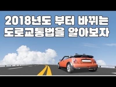 [초보운전탈출] ♥ 2018년도 새로 바뀌는 도로교통법을 알아보자 ㅣ 미남의운전교실