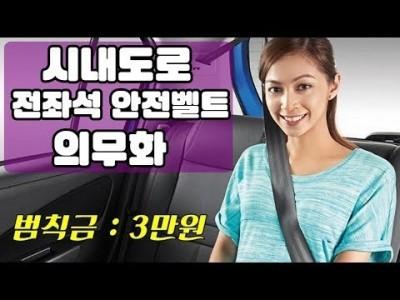 [초보운전탈출] ♥ 전좌석 안전벨트 안하면 벌금? 진짜? 시내도로에서 적용 ㅣ 미남의운전교실