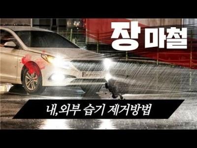 [초보운전탈출] ♥ 비오는 여름 장마철 차량 내,외부 습기 제거 간단 방법 / 미남의운전교실