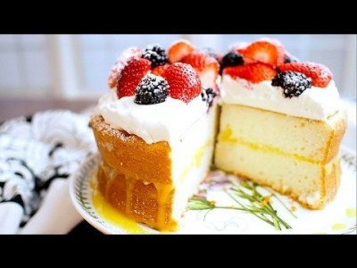 [ENG] Lemon Curd Cake - 상큼하고 부드러운 레몬 쨈 생크림 케이크 만들기