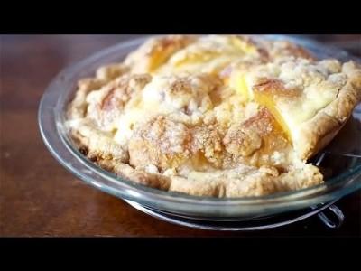 ♥홈메이드 복숭아 크림 파이♥복숭아 파이의 업그레이 버전입니다.