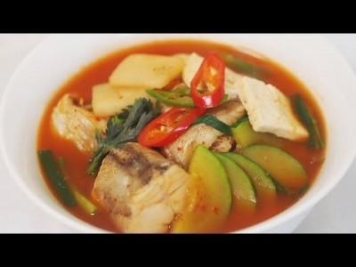 [ 한식조리기능사 실기동영상 ] 생선찌개 동태찌개 만드는법! 생선손질법 생선손질하는방법