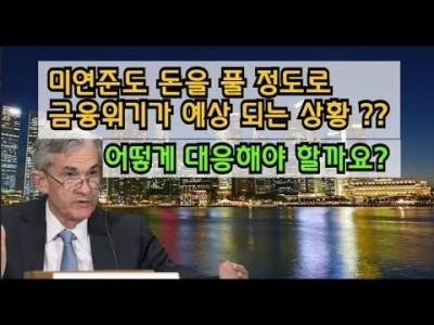 미연준은행도 돈을풀정도로 금융위기가예상되는상황? 어떻게 대응해야할까요??
