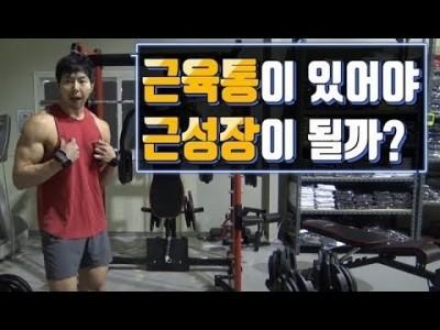 [꿀팁]근육통이 있어야만 근성장이 일어날까?