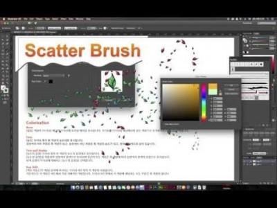 [일러스트레이터 강좌] 10-2 스캐터 브러쉬(Scatter Brush)