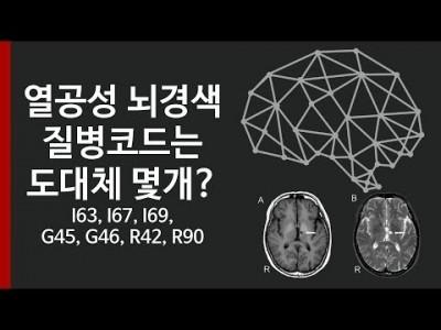 열공성 뇌경색의 질병코드는 도대체 몇개인가요? I63, I67, I69, G45, G46, R42, R9