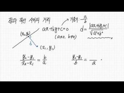 점과 직선 사이의 거리 공식 및 증명