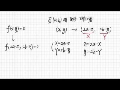 수학1 - 도형의 대칭이동