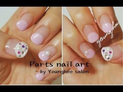 파츠를 이용해 포인트를 줍시다^^/Parts nail art ㅣ Younghee Salon