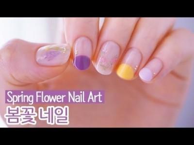 봄꽃 젤네일아트 : Spring Flower Nail Art