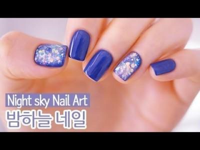 밤하늘 젤네일아트 : Night sky Nail Art