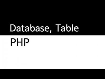 데이터베이스 db,table