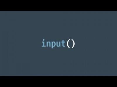 #6 입력하기: input() | 파이썬 강좌 코딩 기초 강의 Python | 김왼손의 왼손코딩