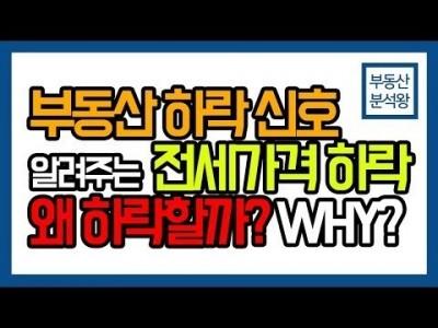부동산 하락 알려주는 전세가격 하락 원인과 이유는 뭘까?? | 부동산분석왕 강의